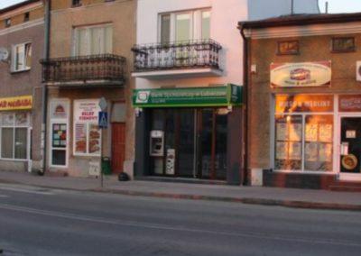 Przebudowa, wnętrza, remont elewacji dla oddziału Banku Spółdzielczego w Lubaczowie